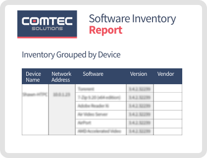 Software Inventory Report